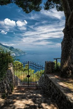 This gate has always been an inspiration. It is Villa Cimbrone, Ravello,  taken by Tony Bill...