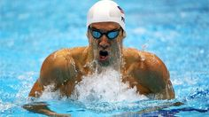 Michael Phelps of the United States competes in the men's 200m Individual Medley on Day 5 of the London 2012 Olympic Games at the Aquatics Centre.