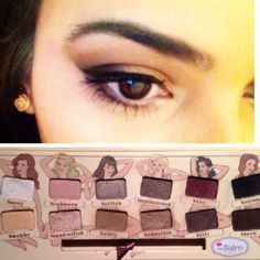 """A simple bronzy look using sultry, seductive and sexy in this amazing """"the balm nude'tude palette"""""""