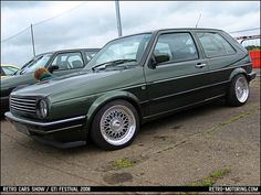 retro volkswagen | oak green vw golf mk2 click for retro motoring retro and classic car ...
