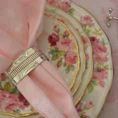 Antique Oval French Christofle Gallia Napkin Ring