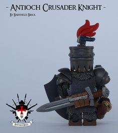 Antioch Crusader Knight So this is my eight custom LEGO minifig from a total series of Although I decided to add another 2 archers and 2 templars, to give some more balance to the crusader army. Crusader Helmet, Crusader Knight, Lego Custom Minifigures, Lego Minifigs, The Hobbit Game, Chateau Lego, Lego Knights, Lego Sculptures, Amazing Lego Creations