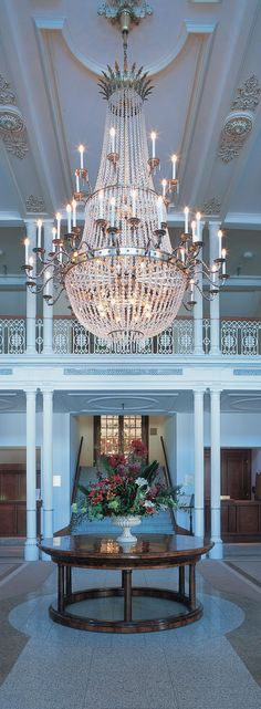 Beautiful Empire Crystal Chandelier at the Lobby of the Kempinski Grand Hotel des Bains in St. St Moritz, Grand Hotel, Empire, Hotels, Chandelier, Ceiling Lights, Crystal, Board, Beautiful