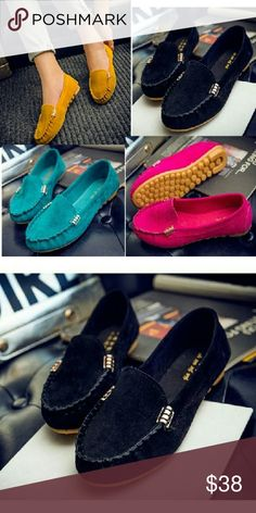 Casual shoes Black casual flats With gold accents Shoes Flats & Loafers