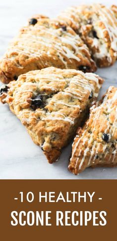 Healthy scone recipes you can serve for breakfast or eat as a snack. The list includes sweet and savory scones made with a viriety of flours. Whole Wheat Scones Recipe, Apple Cinnamon Scones Recipe, Apple Scones, Pumpkin Scones, Spelt Recipes, Scone Recipes, Tea Recipes, Dairy Free Recipes, Healthy Recipes