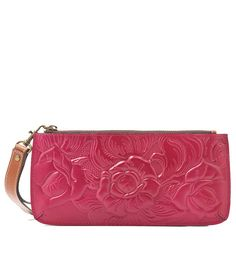 Patricia Nash Tooled Oil Rub Collection St. Croce Floral Wristlet