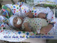 NICU Preemie Vest, Hat & Blanket ePattern - FREE*