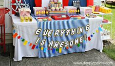 Everything is Awesome Lego Party banner
