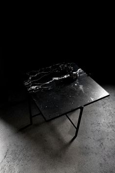 This smaller version of the Coffee Table can serve either as a table in a smaller living room, or as a side table in a larger space. With an elegant honed black marble top, the natural variations and veining makes every piece unique. Black Marble, Marble Top, A Table, Dining Table, Small Living, Scandinavian, Living Room, Elegant, Balcony
