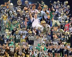 awesome collage of Notre Dame football