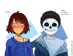 Frans Undertale, Anime Undertale, Undertale Memes, Undertale Ships, Undertale Cute, Underfell Sans X Frisk, Sans E Frisk, Sans X Frisk Comic, Anime Crying