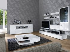 Wohnzimmer Modern Tapete And Tapeten