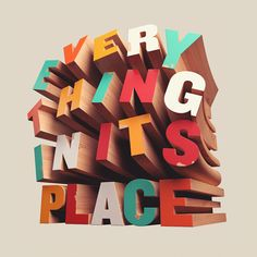 3d Lettering: Everything In Its Place