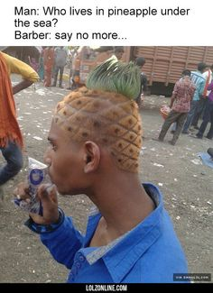 SpongeBob Haircut#funny #lol #lolzonline