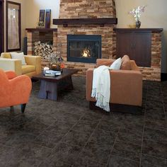Create this look with Heathland and Manufactured Stone, by Daltile. Glazed Ceramic Tile, Porcelain Tile, Buy Tile, Best Floor Tiles, Manufactured Stone, Color Tile, Modern Interior Design, Diy Interior, Interior Walls