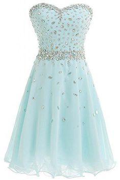 Charming Homecoming Dress,Beading Chiffon Prom Dress,Mint Party Dress,Sweetheart Dress For Teens