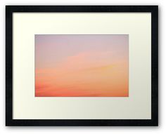 Sky on the Sunset Framed Print by Anastasia Shemetova #sky #sunset #sunrise #photo #photography #clouds #yellow #pink #beautiful #colors #pastel #faerieshop #sale #cloudy #pale #blue #purple #fluffy #redbubble #calm #summer #romantic #home #wall #decor #decoration