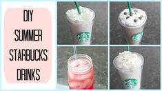 DIY Summer Starbucks Drinks!