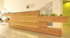 Reclaimed Douglas fir beams for Sierra Club reception area
