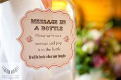 Message in a bottle wedding guest book