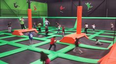 Main Court at Launch Trampoline Park - Hartford, CT