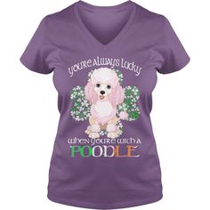 #Poodle Saint Patrick's Day Lucky With A #Poodle Dog, Order HERE ==> https://www.sunfrog.com/Pets/114873843-453945189.html?70559, Please tag & share with your friends who would love it, #birthdaygifts #superbowl #jeepsafari poodle painting, poodle tips, apricot poodle #science #nature #sports #tattoos #technology #travel