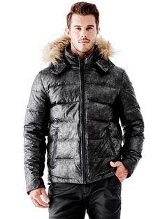 Alaska Faux-Fur Hooded Puffer Jacket