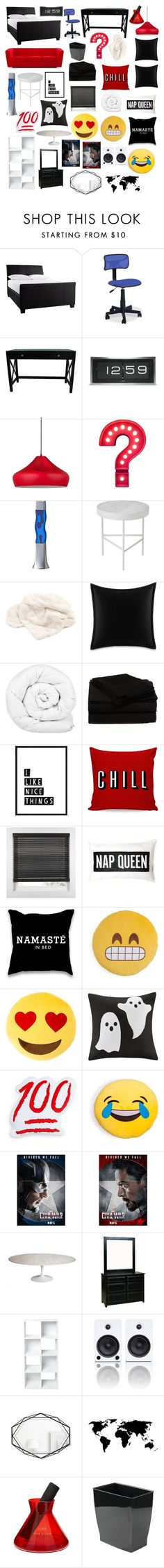 """""""C Bedroom"""" by ajd2 ❤ liked on Polyvore featuring interior, interiors, interior design, home, home decor, interior decorating, Linon, LEFF Amsterdam, Dot & Bo and Room Essentials"""