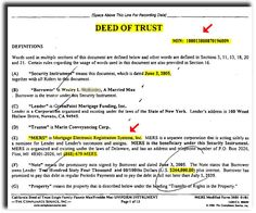 Wrongful Foreclosure Training  Example Of Deed Of Trust