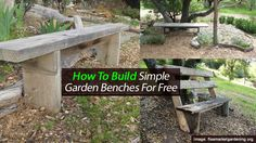 How To Build Simple Garden Benches For Free