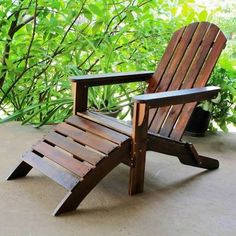 International Caravan Furniture Piece Outdoor Adirondack Chair with Footrest - Excellent product, high quality.This International Caravan that is ran Polywood Adirondack Chairs, Adirondack Chairs For Sale, Adirondack Chair Plans Free, Outdoor Chairs, Outdoor Furniture, Outdoor Decor, Rustic Furniture, Funky Furniture, Furniture Layout