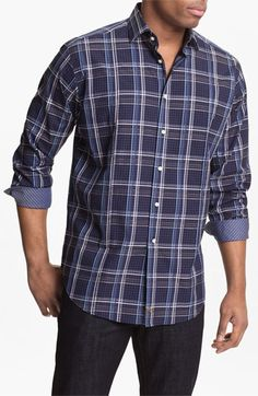 Thomas Dean Regular Fit Sport Shirt available at #Nordstrom