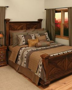Apache Bedding Set. Add the finishing touch to your rustic bedroom with this lodge bedding set. $792.