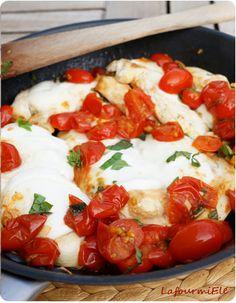 Recette facile et rapide de Poulet comme à Capri : tomate, basilic, mozzarella