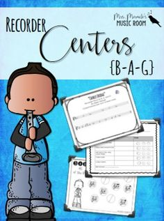 Recorder Centers Set {BAG}: Great set for implementing centers in your music classroom! Includes a game, a performance piece, worksheets, and more!
