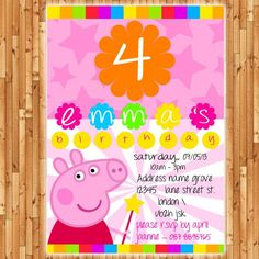 peppa pig invitation - Buscar con Google