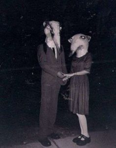 Halloween costumes from the early 1900's.  Why do I love this photo so much?