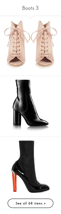 """""""Boots 3"""" by lashanna-bing ❤ liked on Polyvore featuring shoes, boots, ankle booties, open toe ankle boots, short boots, peep toe bootie, stiletto ankle boots, peep toe ankle boots, ankle boots and ankle bootie boots"""