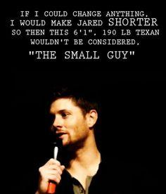 Hahaha Jensen..small? Please