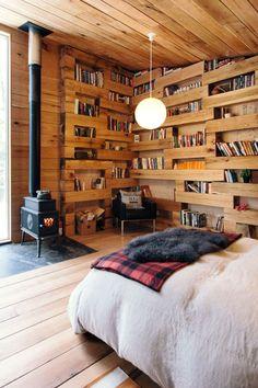 Una bellissima libreria immersa nel bosco - Arredo Idee