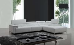 Stylish Design Furniture - Citadel Modern White Eco-Leather Sectional Sofa w/ Audio System, $1,892.00 (http://www.stylishdesignfurniture.com/products/citadel-modern-white-eco-leather-sectional-sofa-w-audio-system.html)