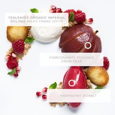 Click to see the creation of a Dessert, inspired by Organic Imperial Oolong, PANTONE 1945C, and the mood: Sophisticated