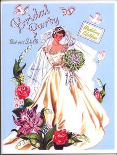 Paper Dolls:  Bridal Party Front Cover, 1950