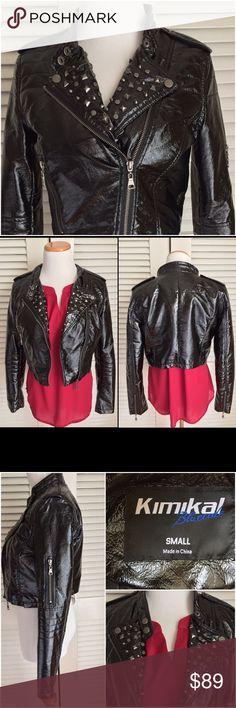"Kimikal Studded Faux Leather Crop Jacket NWOT! Kimikal Bluecode Studded Crop Jacket. Boutique purchased never worn! 18"" UA to UA, 17"" shoulder to front bottom,  23.5"" sleeve length. Kimikal  Jackets & Coats"