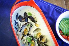 Lager Soup with PEI Mussels and Dill // Alcohol-infused // PEI Mussels Recipe