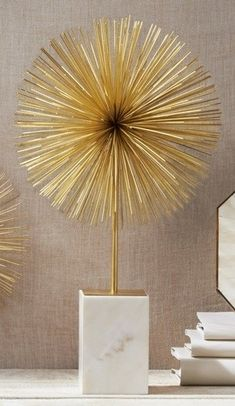Twos Company Starburst Statue: Add a retro-luxe piece like this one to amp up the wow factor on any coffee table for hom Diy Wall, Wall Decor, Room Decor, Cheap Home Decor, Diy Home Decor, Ramadan Decoration, Wow Products, Home Decor Accessories, Interior Decorating
