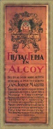 Cartel de fiestas de Alcoy del año 1924