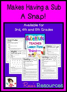 Make your life easier with ready-to-go sub lesson plans.
