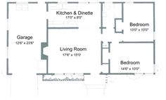 Small House Floor Plans 2 Bedrooms   Click Image to Enlarge. Plans for 2 Bedroom, 1 Bathroom House