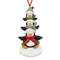 John Lewis Penguin Stack Tree Decoration